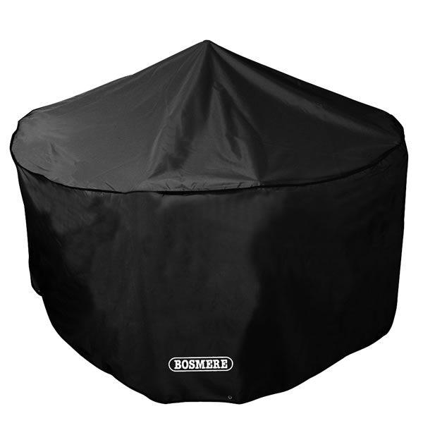 Bosmere Storm Black 4 Seater Circular Patio Set Cover