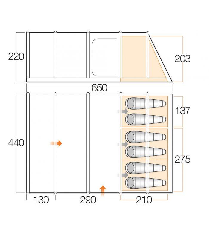 Vango Edoras Floorplan
