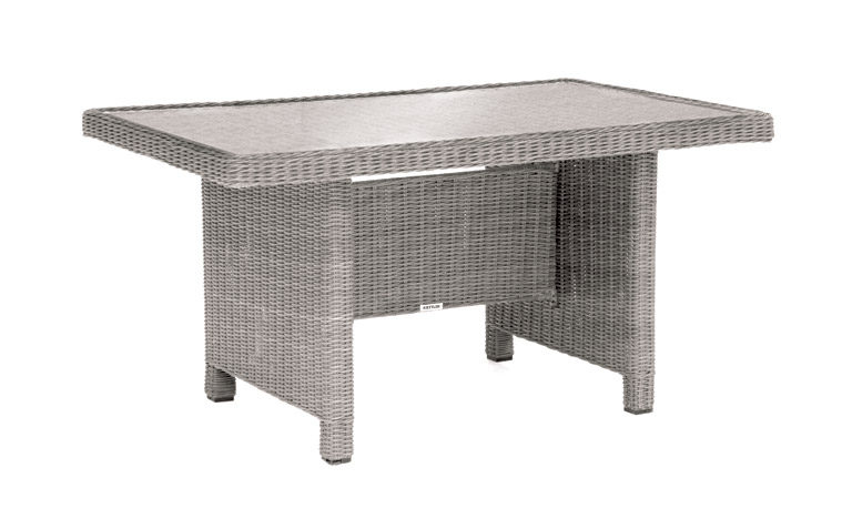 Kettler Palma Mini Glass Top Table Whitewash