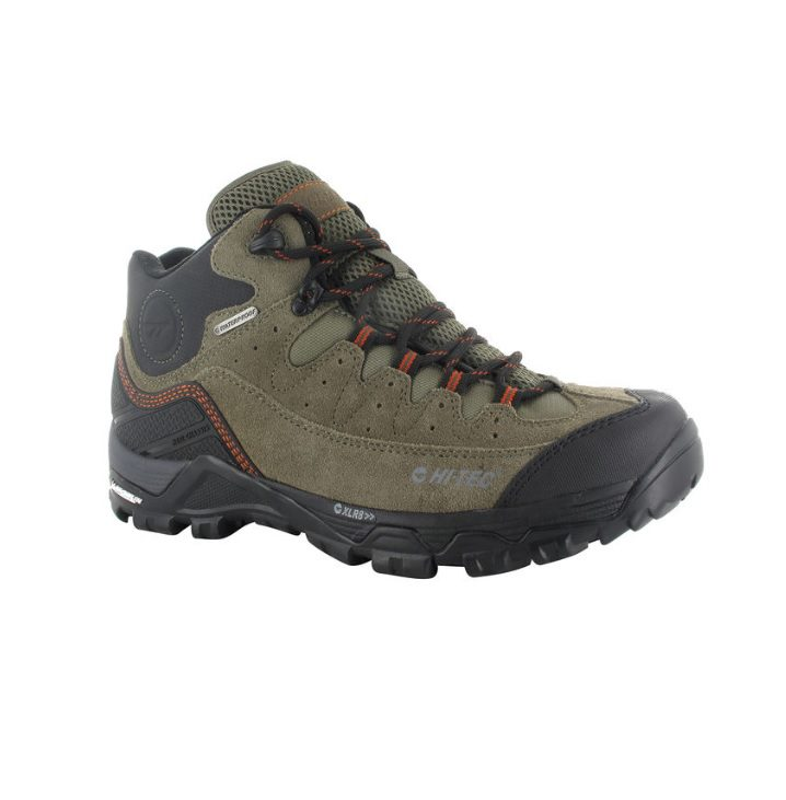 Ox Belmont Mens Boot - Taupe/grey/red rock