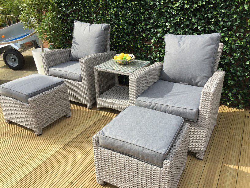 Norcamp Holkham Reclining Set Grey Weave 3