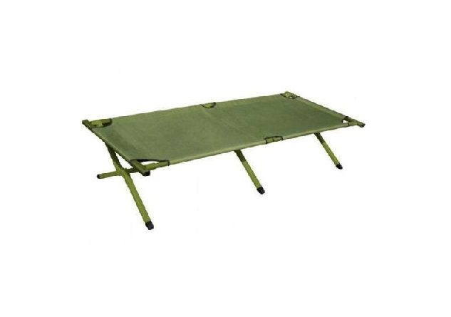 Highlander Aluminium Camp Bed Green
