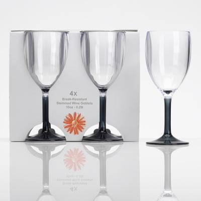Flamefield 4PK Smoke Wine Glass 0.3l/10oz
