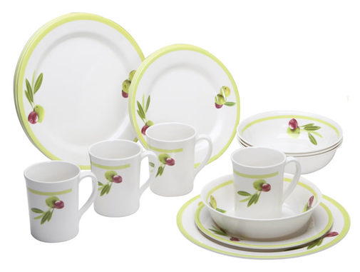 Quest Sorrento Olive 16 Piece Melamine set - 150220