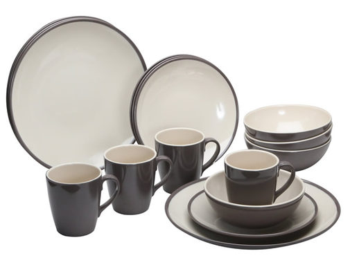 Quest Two Tone Burslem 16 Piece Melamine Set - 150223