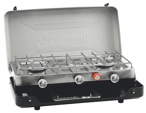 Outwell Gourmet Cooker 3-Burner Stove w/Grill - 650260