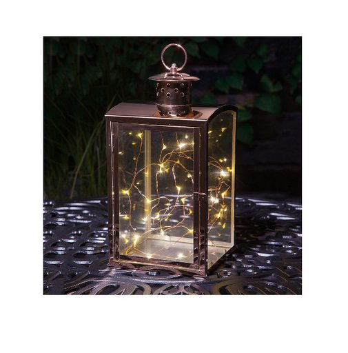 Noma Glass Lantern with copper wire lights - Medium