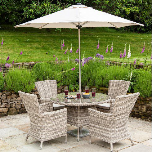 Alexander Rose Kool Pearl 4-Seater Set