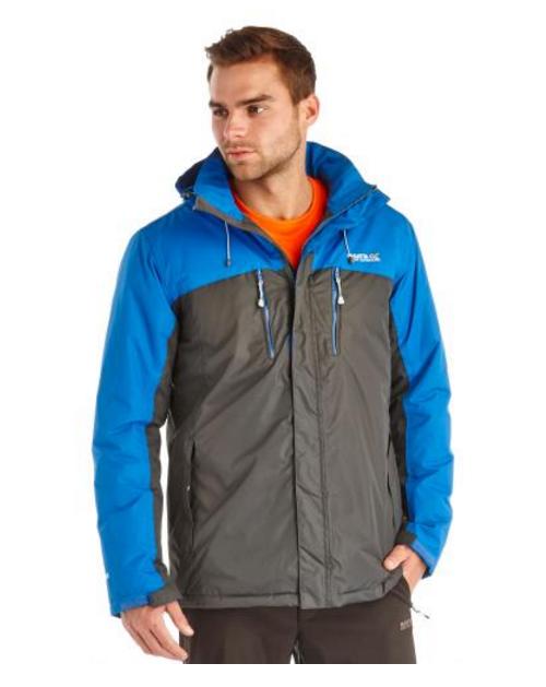 Regatta Men's Fabens Jacket - Seal Grey/Blue