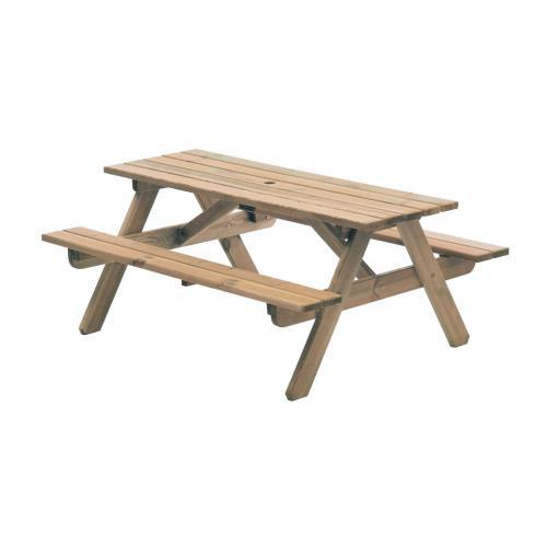Alexander Rose Woburn 5ft Pine Picnic Table-AR310