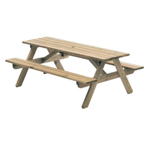 Alexander Rose Woburn 6ft Pine Picnic Table-AR316