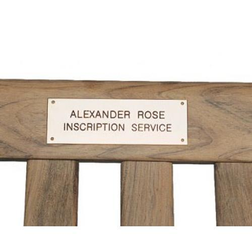 Alexander Rose Inscribed Brass Plate