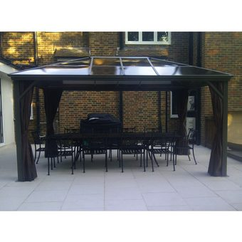 Kensington 3x4.2m Gazebo with Polycarbonate Roof