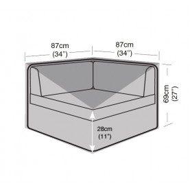 Garland Small Corner Unit Cover Black W1694