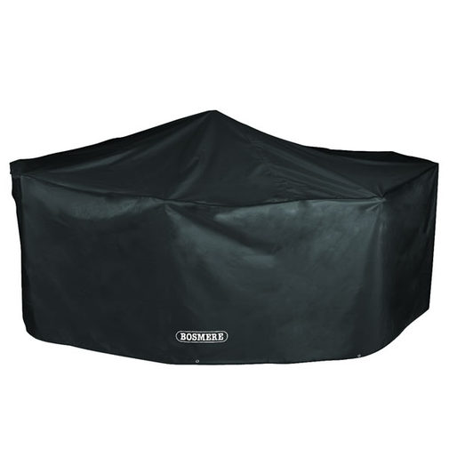 Bosmere Storm Black 4 Seater Rectangular Patio Set Cover