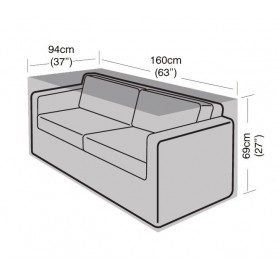 Garland 2 Seater Large Sofa Cover Black W1658