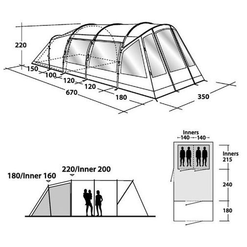Outwell Kensington 4 Tent 2015