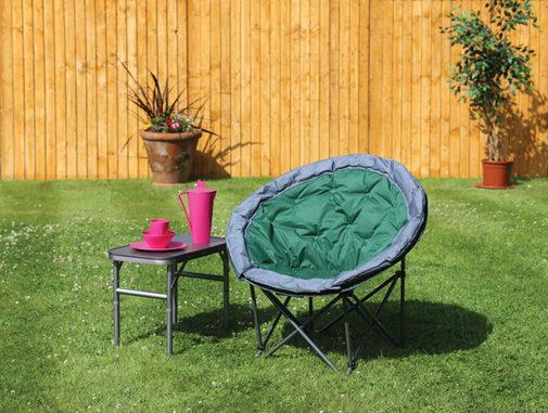 Quest Medium Moon Chair Green