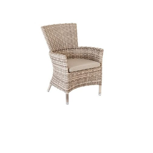 Alexander Rose Kool pearl high back armchair