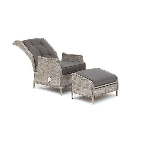 Classic recliner whitewash