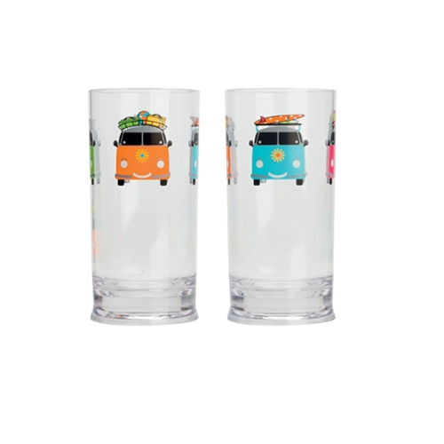 Camper Smile Tall Glass