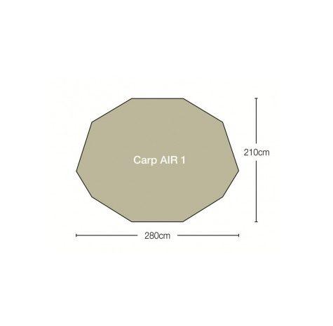 Kampa carp 1 bivvy floorplan
