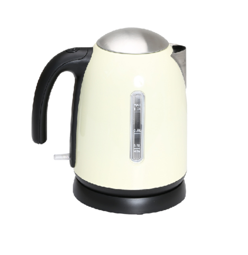 Quest Low Wattage 1.2L Cordless Stainless Steel Kettle - Cream