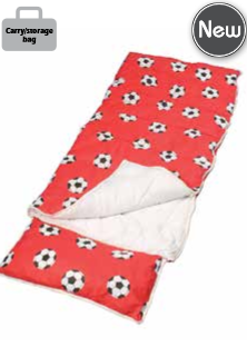 Sunncamp Junior Football Red Sleeping Bag - SB1107