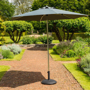 Garden Must Haves 2.7m King Grey Parasol