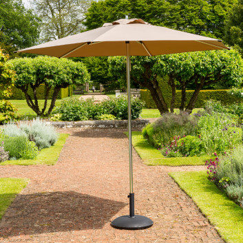 Garden Must Haves 2.7m King Taupe Parasol