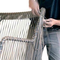 Weave over aluminium frames