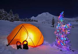 Camping at Christmas