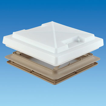 MPK 400 x 400cm Rooflight with Flynet / Lock / Blind (Beige)