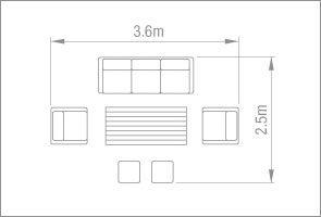 Kettler Palma Sofa Set - White Wash