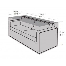 Garland 2-3 Seater Large Sofa Cover Black W1666