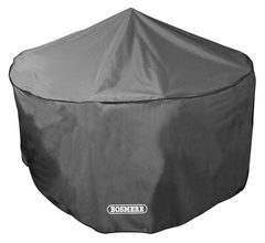 Bosmere Storm Black Circular 4-6 Seater Patio Set Cover - D520