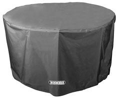 Bosmere Storm Black Circular 4-6 Seater Table Cover - D545