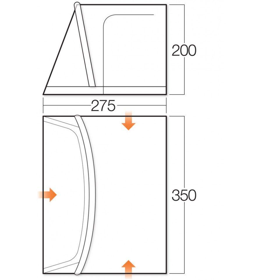 Vango Rapide 350 Caravan Porch Awning 2016