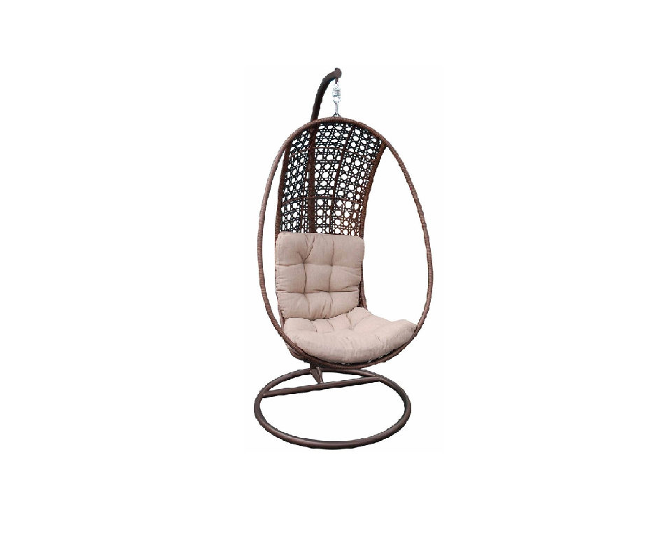 LeisureGrow Oliveira Hoop Hanging Egg Chair with Cushion