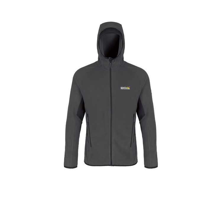 Regatta Men;s Addison III Hooded Fleece Jacket - Seal Grey / Black