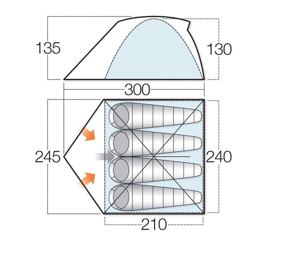Vango rock 400 tent floorplan