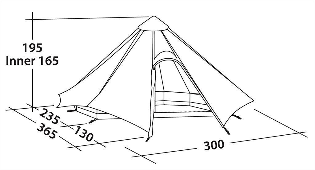 Robens Green Cone Tipi specifications