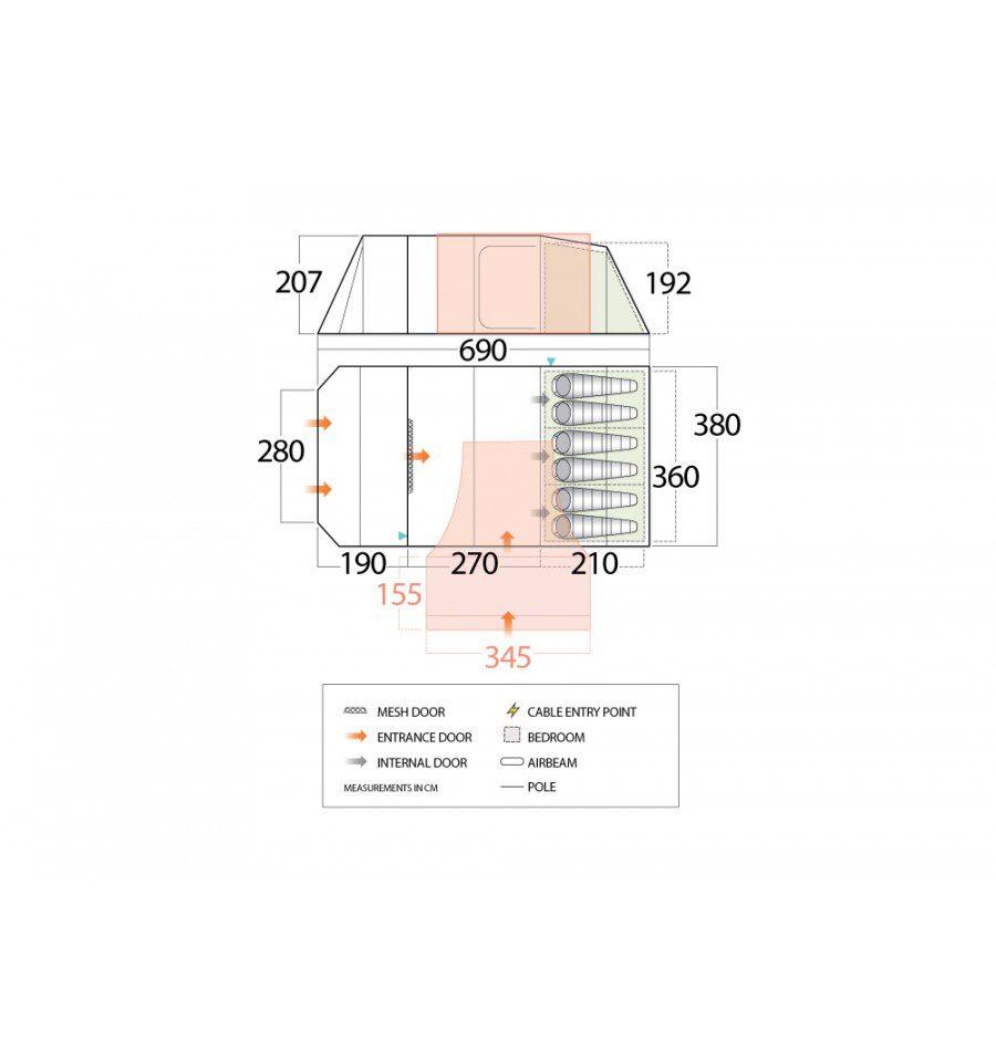 Vango Marna 600XL Floorplan
