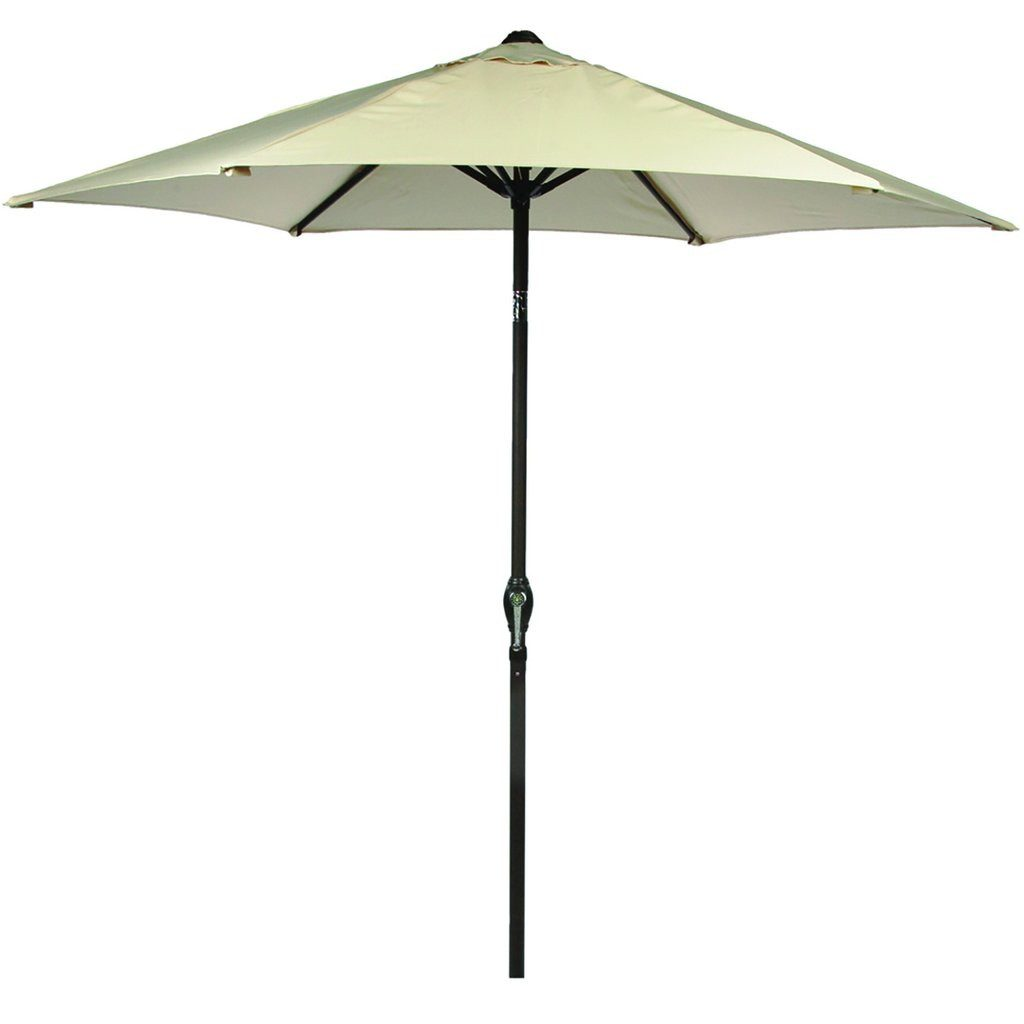 Leisuregrow 2.5m Beige Canopy Brown Pole