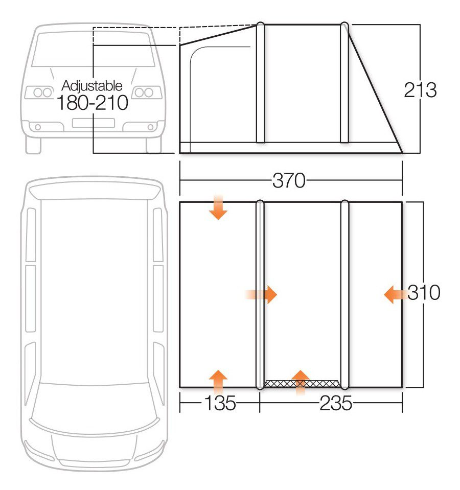 Vango Idris II Low Awning specifications