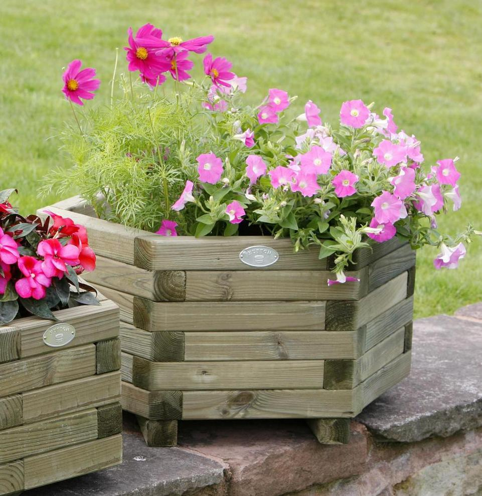 Hutton Large Hexagonal Planter