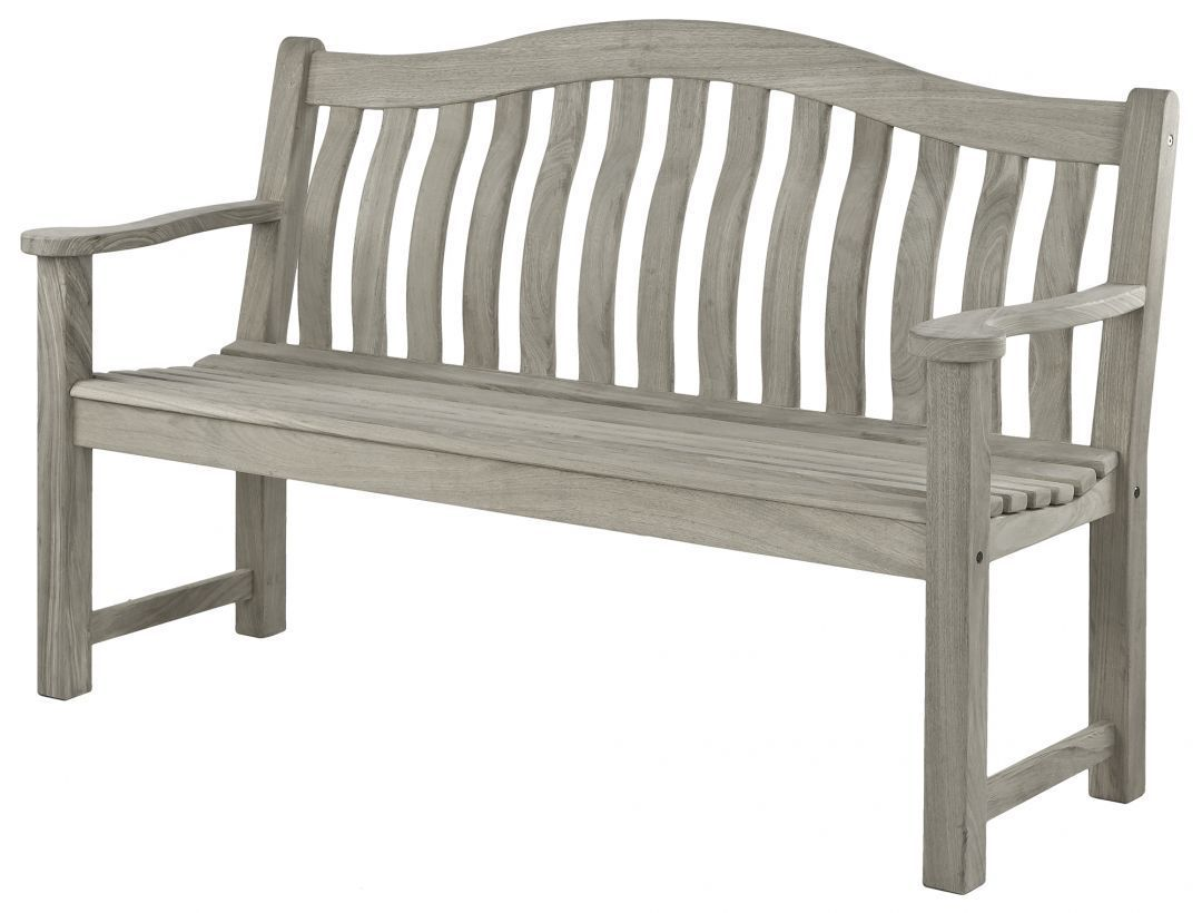 Alexander Rose Grey Painted Turnberry Bench 618