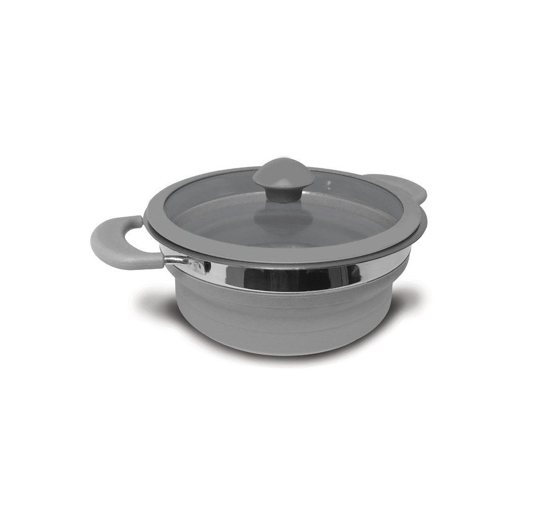 Kampa folding saucepan 1.5 litre grey