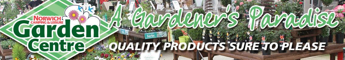 Garden centre plants banner