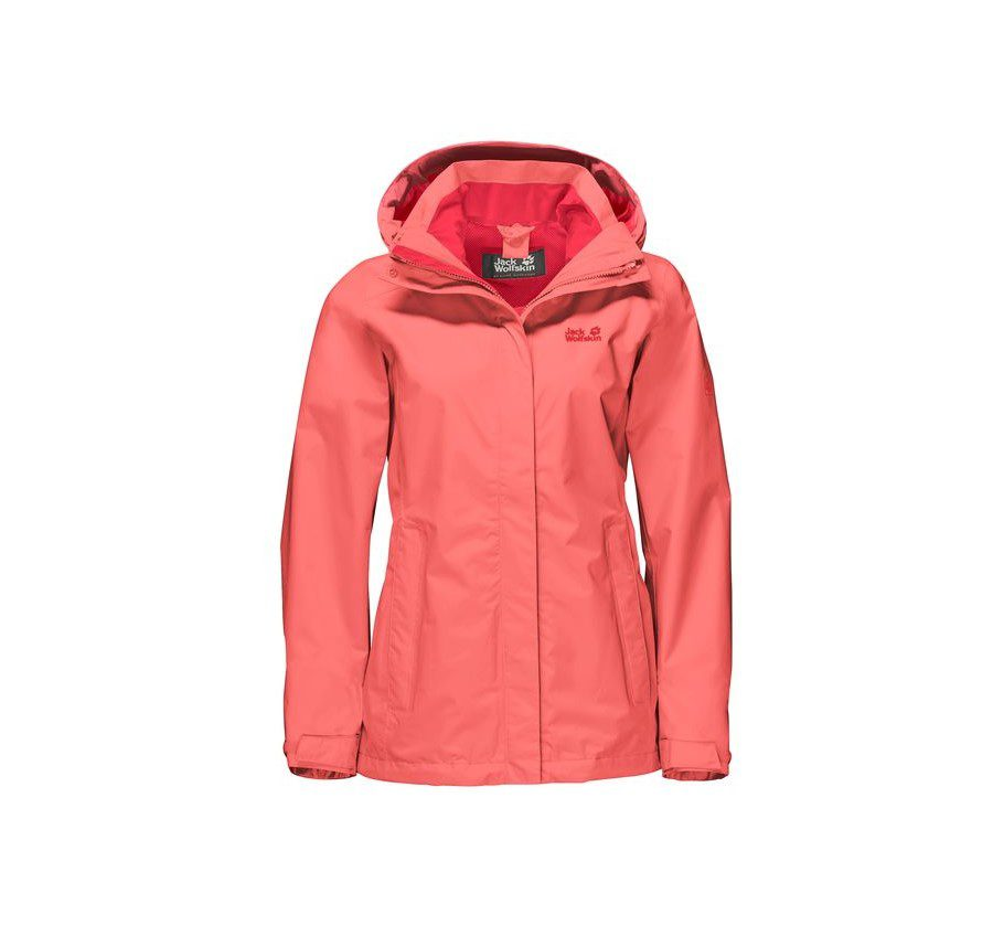 Jack Wolfskin Womens Seven Lakes Jacket - Flamingo